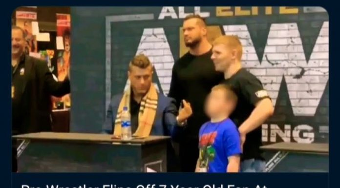 AEW star MJF flips off 7-year old boy at a meet and greet