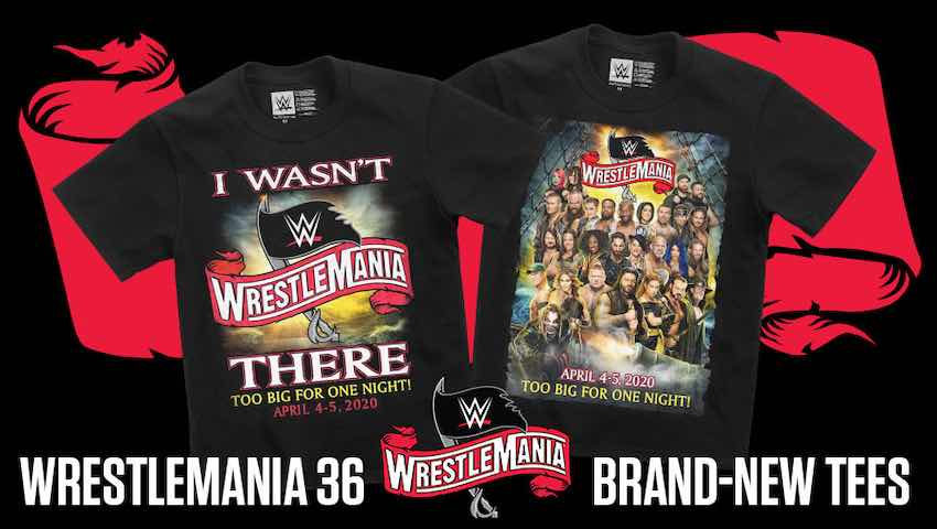 WWE releases new WrestleMania 36 T-Shirts