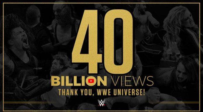 WWE announces their YouTube Channel surpasses 40 billion views