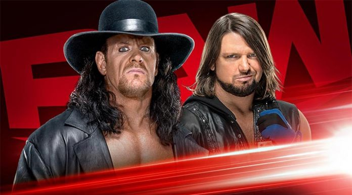 Undertaker and AJ Styles contract signing