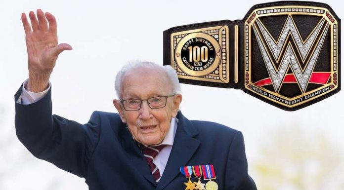 Drew McIntyre gifts WWII Veteran custom WWE Title for his 100th Birthday