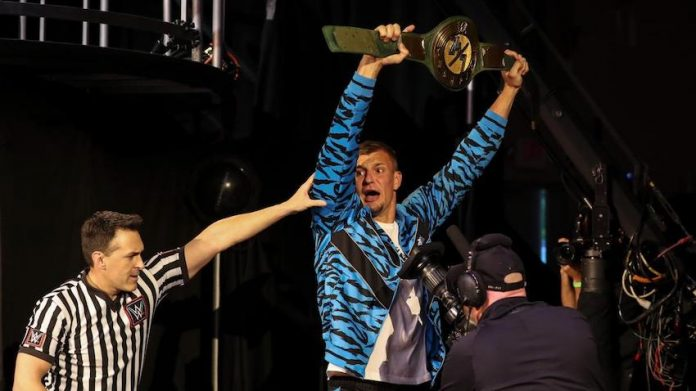 Rob Gronkowski comments on his status as WWE 24/7 Champion