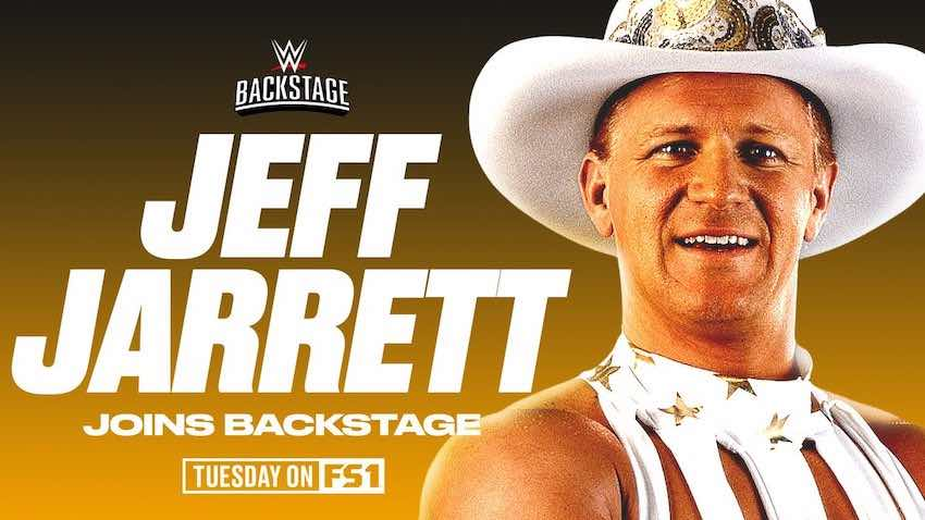 Jeff Jarrett announced this Tuesday's episode of WWE Backstage