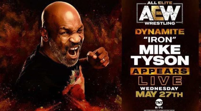 Mike Tyson will debut live on this week's episode of AEW Dynamite