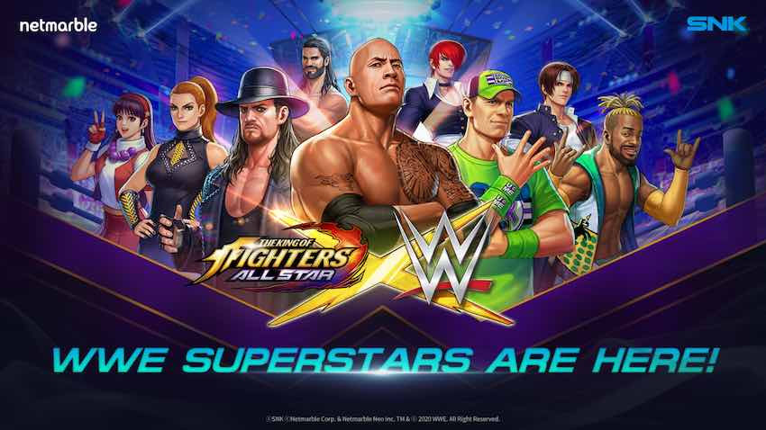 WWE announces crossover with THE KING OF FIGHTERS ALLSTAR mobile video game