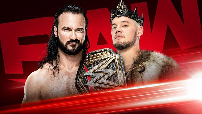 Upcoming matches for Raw