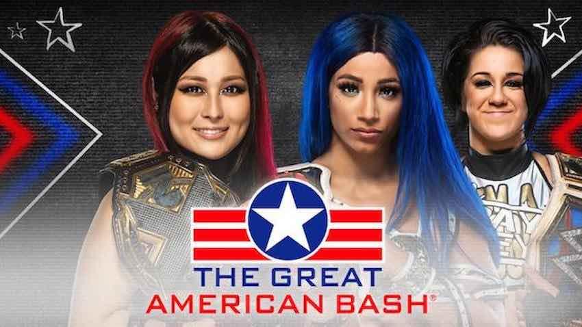 Io Shirai vs. Sasha Banks added to Great American Bash NXT episode