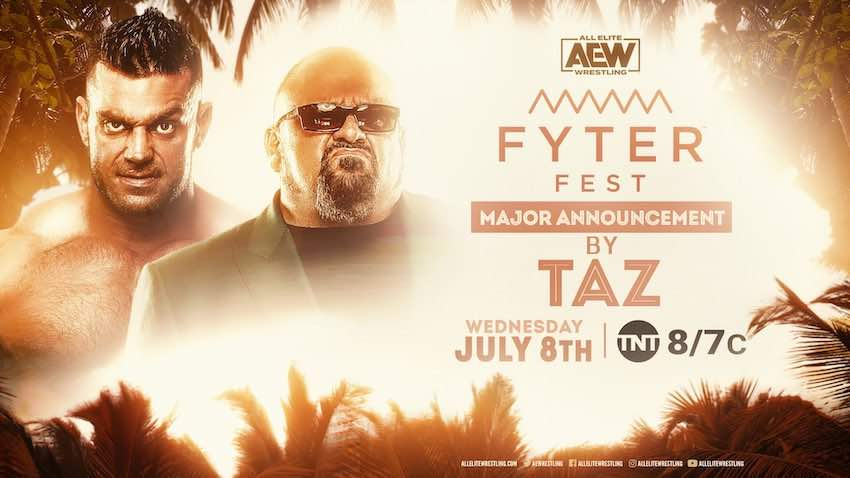 Taz to make a major announcement on Night Two of Fyter Fest