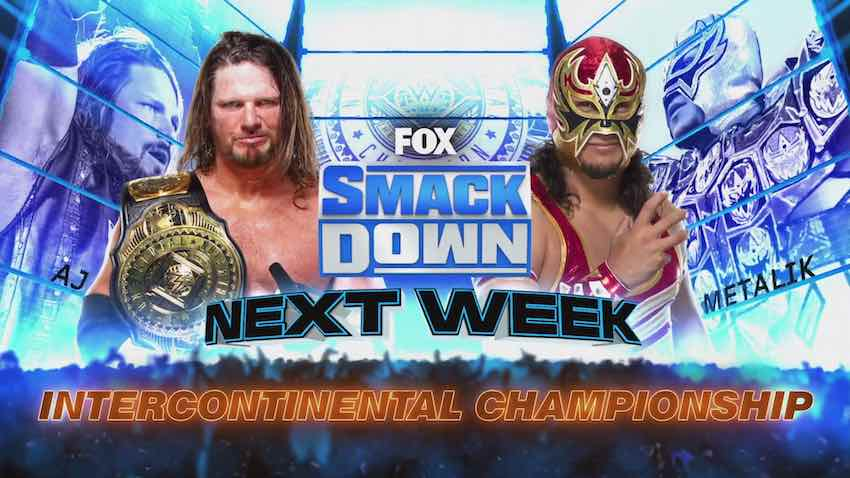AJ Styles to defend the WWE Intercontinental Title on next week's SmackDown