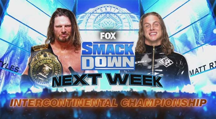 Styles vs. Riddle for the WWE IC Title