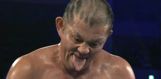 Minoru Suzuki develops high fever