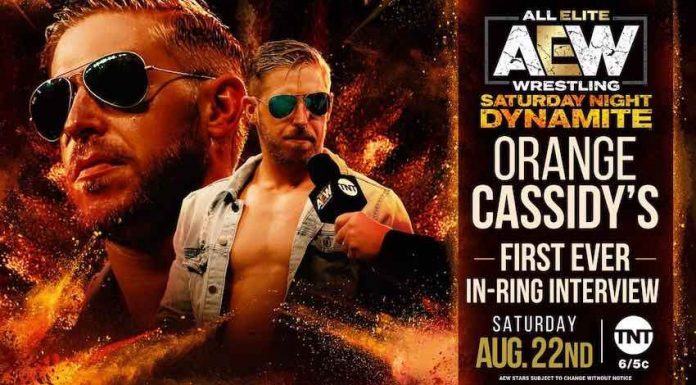 Orange Cassidy in ring interview set for special Saturday AEW Dynamite