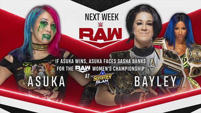 Matches for next week's Raw