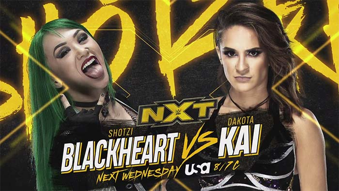 Matches for WWE NXT next week