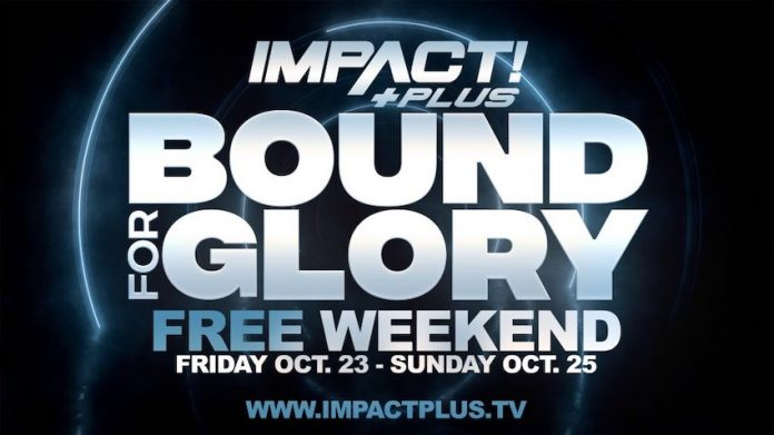 IMPACT Plus Streaming service free for Bound For Glory weekend