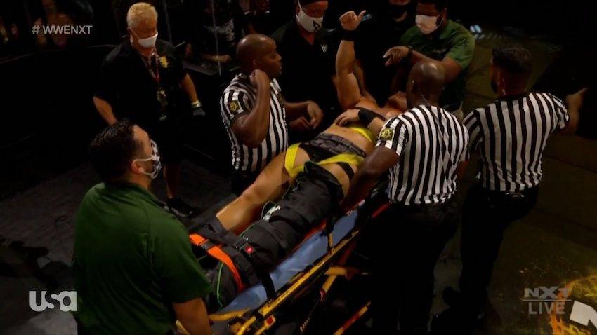 Ridge Holland injured during post-match brawl on WWE NXT
