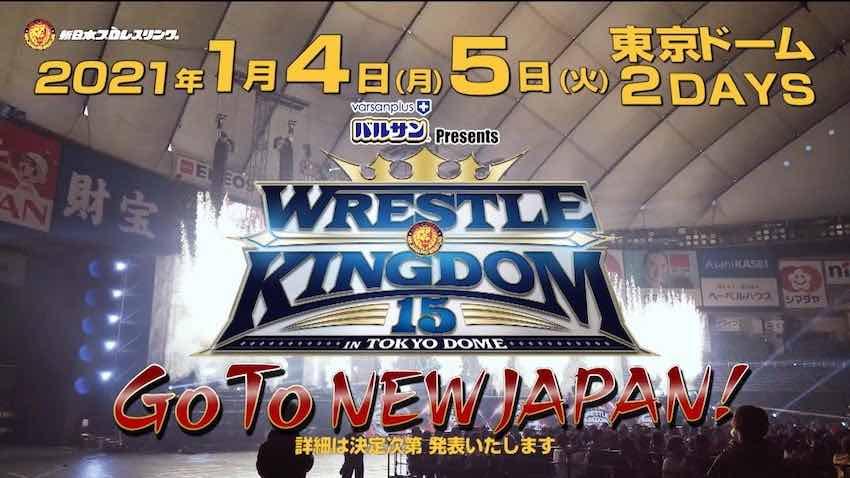 NJPW Wrestling Kingdom 15 will be a two-night event