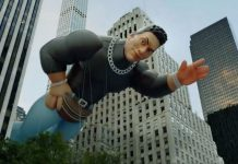 """The Rock"" Johnson gets his own float at the Macy's Thanksgiving Day Parade"