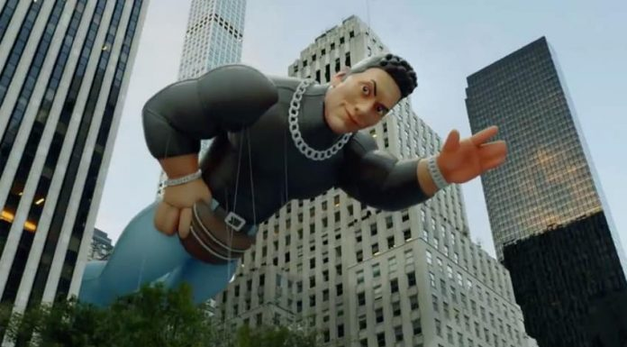 """""""The Rock"""" Johnson gets his own float at the Macy's Thanksgiving Day Parade"""