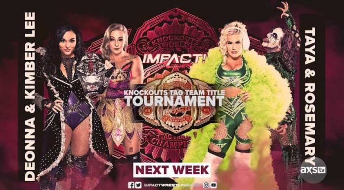 Final First Round of Knockouts Tag Title Tournament next week on IMPACT