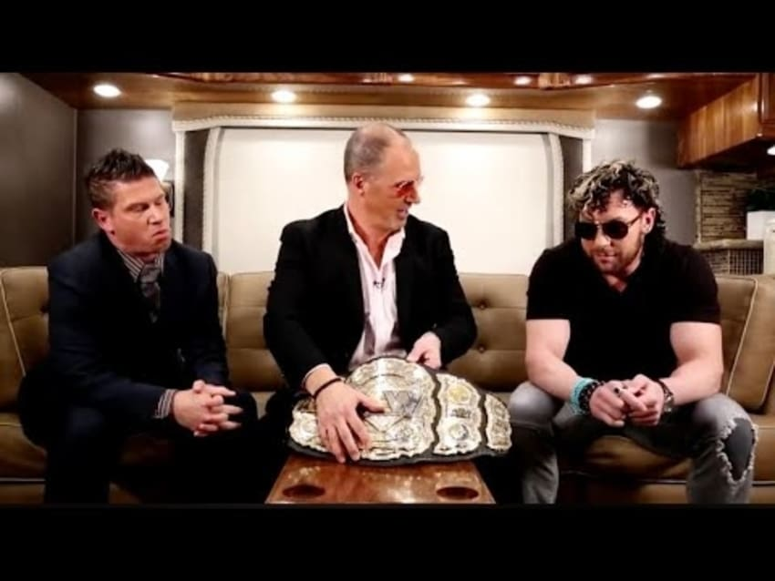 Kenny Omega asks fans if they enjoyed his show