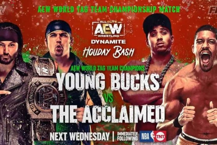 Matches announced for next week's Holiday Bash episode of Dynamite on TNT