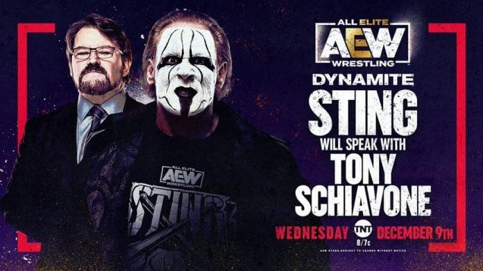 Sting to speak to Tony Schiavone on AEW Dynamite