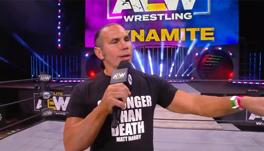 Matt Hardy reveals on Twitter he was in a car accident