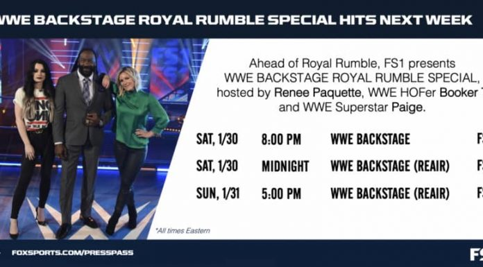 WWE Backstage to air on FS1 during Royal Rumble Weekend