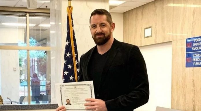 Wade Barrett become a United States Citizen