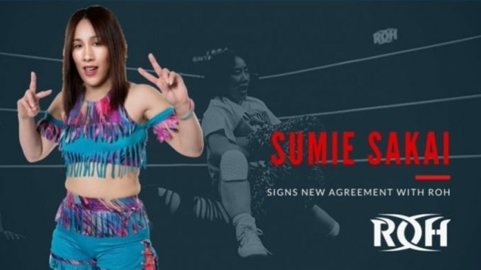 Sumie Sakai signs a new agreement with Ring of Honor