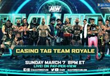 Rules announced for the Casino Tag Team Royale at AEW Revolution