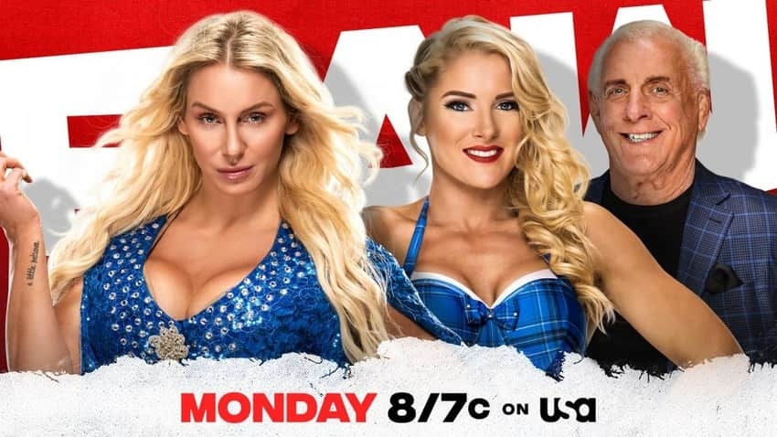 Charlotte Flair and Lacey Evans for tomorrow night's Raw