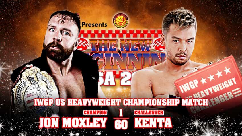 Jon Moxley vs KENTA IWGP US Title at NJPW Strong