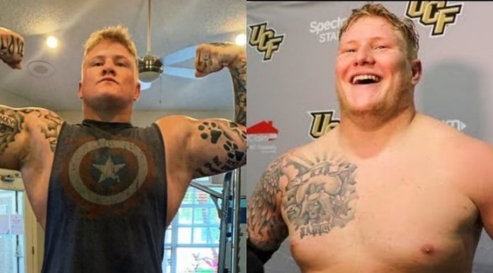 WWE signs former University of Central Florida football player