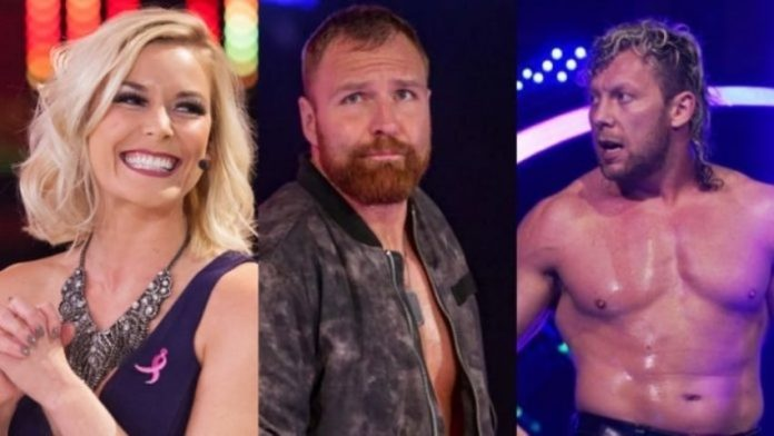 Renee Paquett responds to Jon Moxley in Barbed Wire Match
