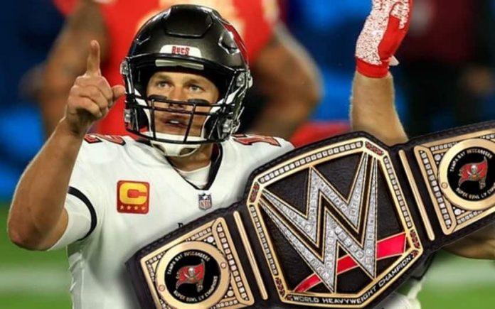 Triple H gifts Super Bowl LV champions a WWE title belt