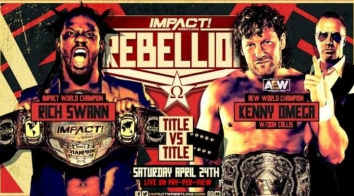 Rich Swann vs. Kenny Omega Title for Title at Rebellion