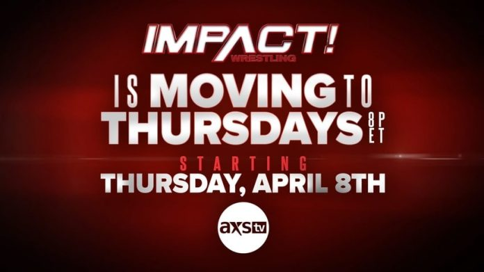 IMPACT is moving back to Thursday