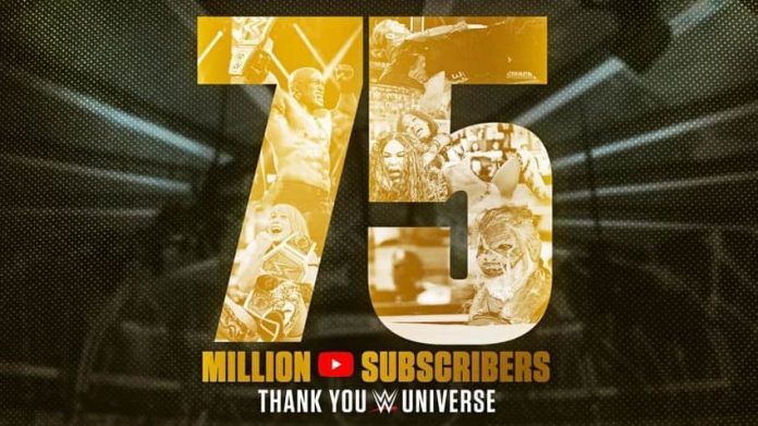 WWE reaches 75 million subscribers for its YouTube Channel