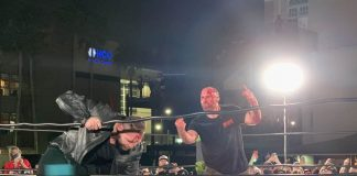 Jon Moxley shows up at GCW Spring Break to confront Nick Cage