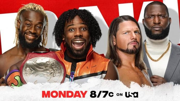 Xavier Woods vs. AJ Styles for Monday's Raw