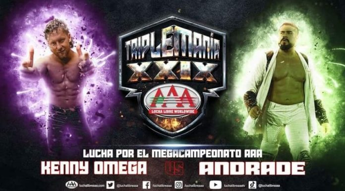 Andrade vs. Kenny Omega for AAA Mega Title official at Triplemania