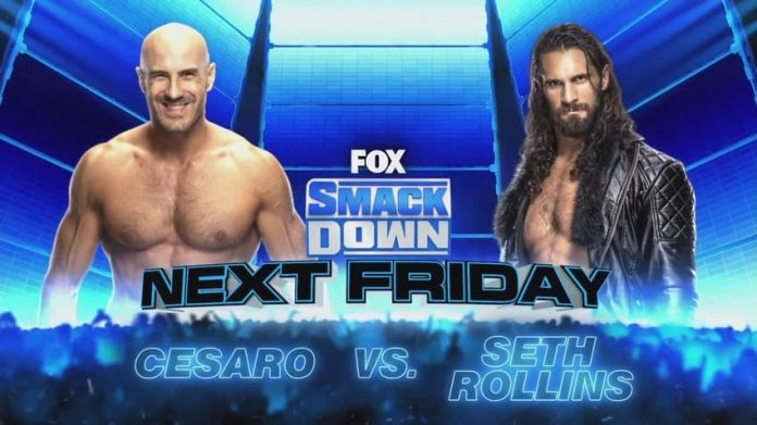 Cesaro vs. Seth Rollins set for next week's WWE SmackDown