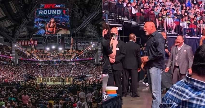 Bill Goldberg appears at last night's UFC 262