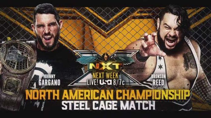 NXT North America Title to be defended in a steel cage