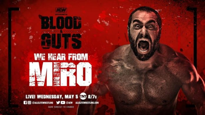 Updated card for AEW Blood & Guts episode on TNT