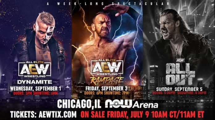 AEW announces three live television events for Chicago