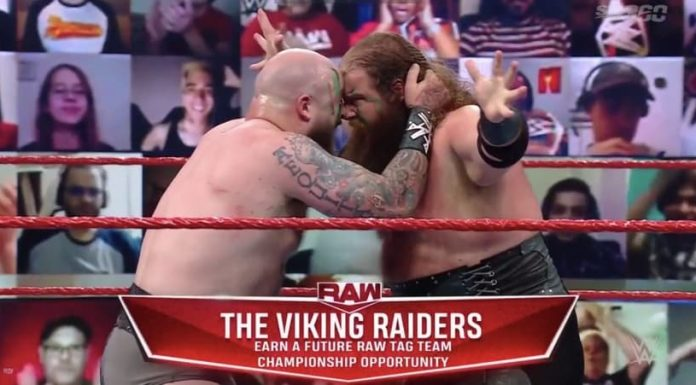 The Viking Raiders earn a future shot at the WWE Raw Tag Team Titles
