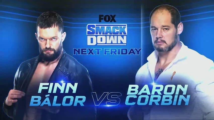 Finn Balor vs. Baron Corbin set for next week's WWE SmackDown